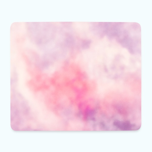 Pink clouds watercolor sky - Mouse Pad (horizontal)