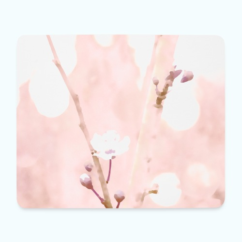 Cherry tree watercolor minimalism - Mouse Pad (horizontal)