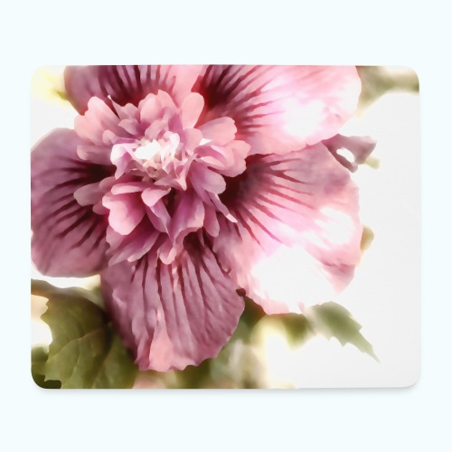 Pink flower watercolor minimalism - Mouse Pad (horizontal)