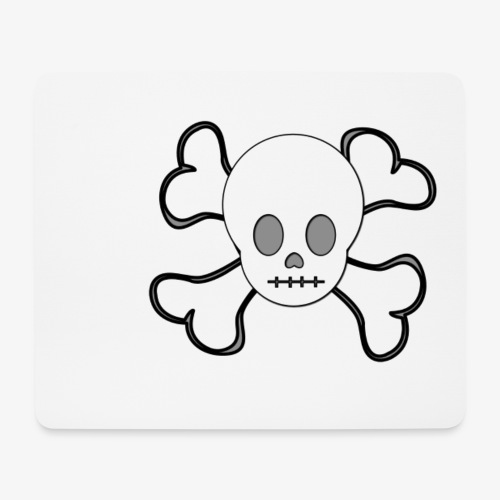 Weißer Totenkopf - Mousepad (Querformat)