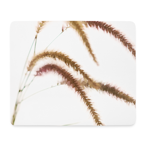 Tender grass watercolor minimalism nature - Mouse Pad (horizontal)