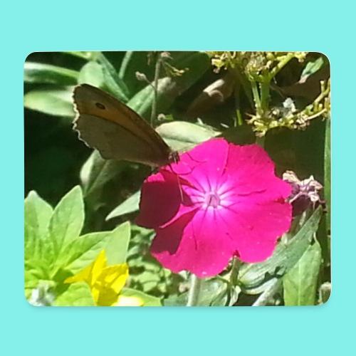 Schmetterling auf Blume - Mousepad (Querformat)