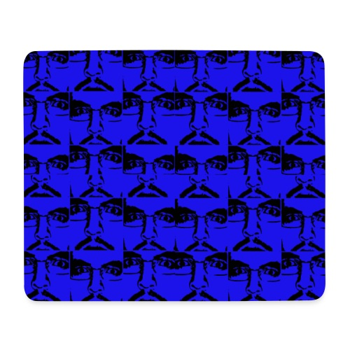 Ghemba Pop Art in blu - Tappetino per mouse (orizzontale)