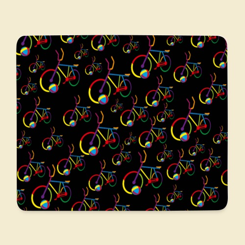 Radball | Cycle Ball Rainbow | Muster - Mousepad (Querformat)