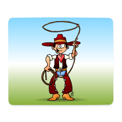 Cowboy with a lasso - Mouse Pad (horizontal)