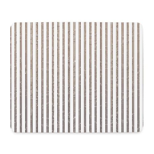 Pinstripe Muster Streifen Muster gestreift weiß - Mouse Pad (horizontal)