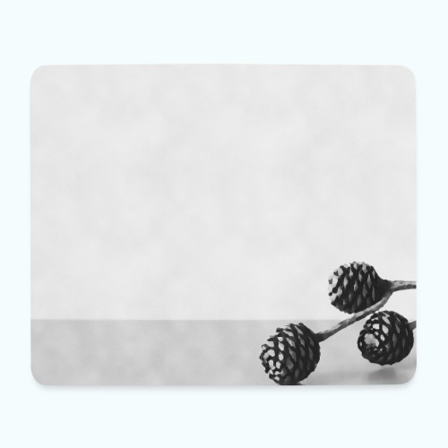 Gray minimalism composition watercolor - Mouse Pad (horizontal)