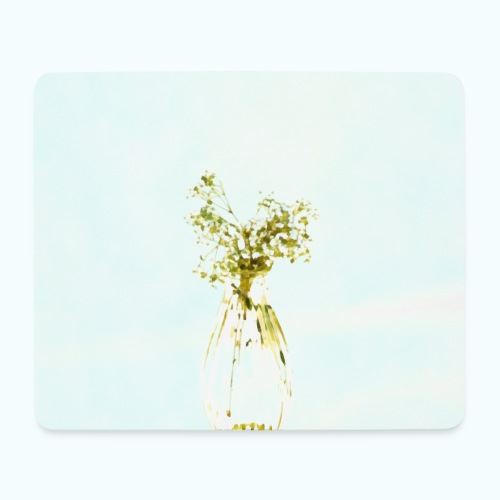 Abstract floral minimalism watercolor - Mouse Pad (horizontal)