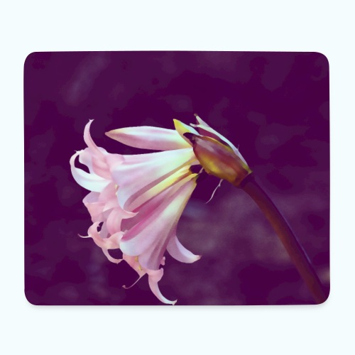 Flower At Night Watercolor Minimalism - Mouse Pad (horizontal)