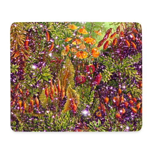 Magic forest flowers meadow fairy tale Fantasia fairy forest - Mouse Pad (horizontal)