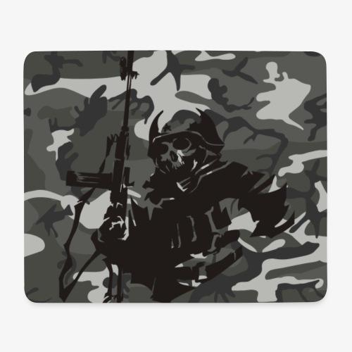 camuflaje con soldado - Alfombrilla de ratón (horizontal)