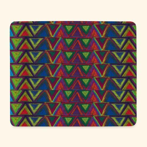 Symétre axiale triangles en miroir - Tapis de souris (format paysage)