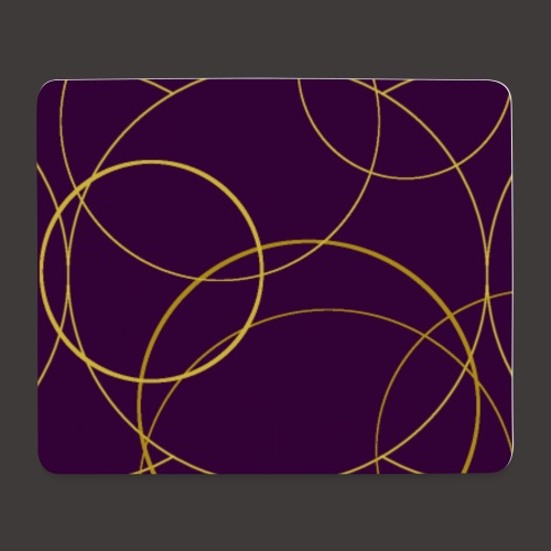 Ornamentik gold lila, Smartphonehülle - Mousepad (Querformat)