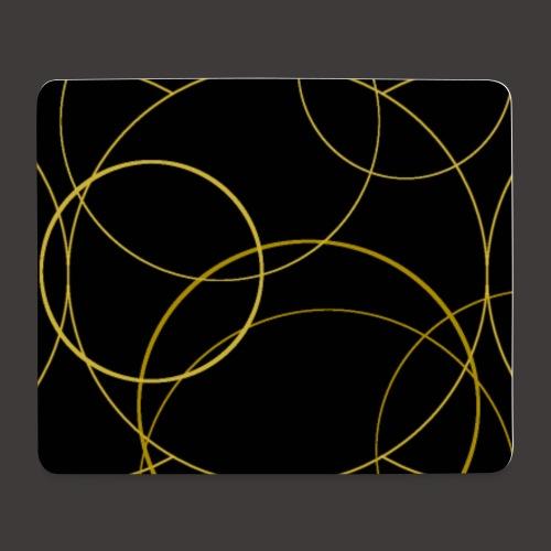 Ornamentik gold schwarz, Smartphonehülle - Mousepad (Querformat)