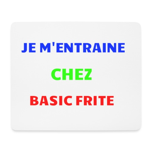 Basic Frite - Tapis de souris (format paysage)