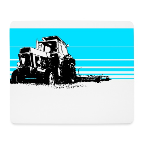 Sunset tractor cyan - Tappetino per mouse (orizzontale)