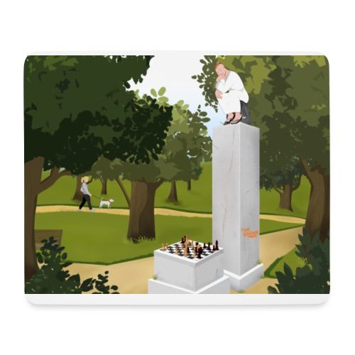 The Thinker - Mouse Pad (horizontal)