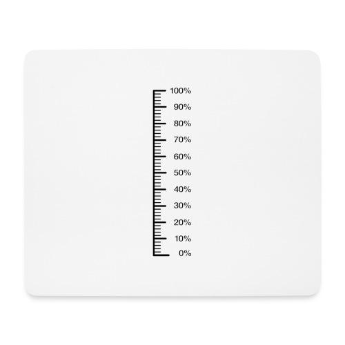 Skala 0 - 100% z.B. als Füllstandsmesser für - Mousepad (Querformat)