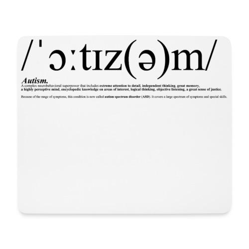 AUTISM BLACK - Mouse Pad (horizontal)