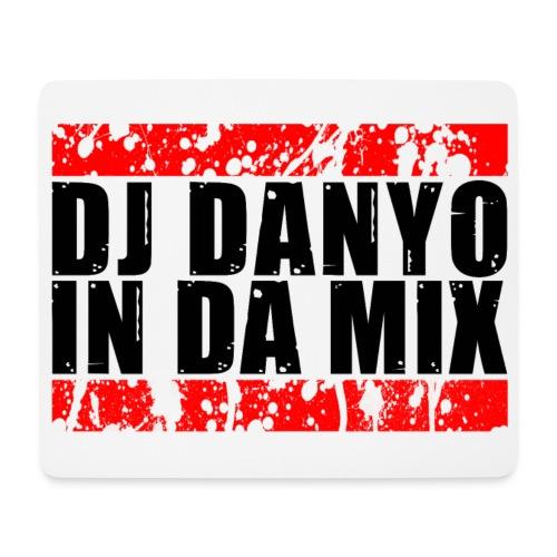 DJ Danyo Logo weiß - Mousepad (Querformat)