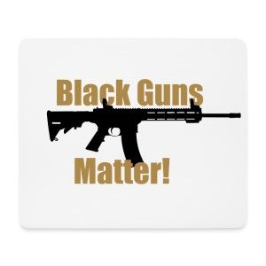 BLACK GUNS MATTER - Mousepad (Querformat)