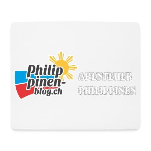 Philippinen-Blog Logo deutsch schwarz/weiss - Mousepad (Querformat)