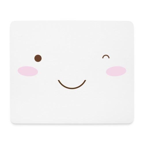 happy face wink - Mouse Pad (horizontal)