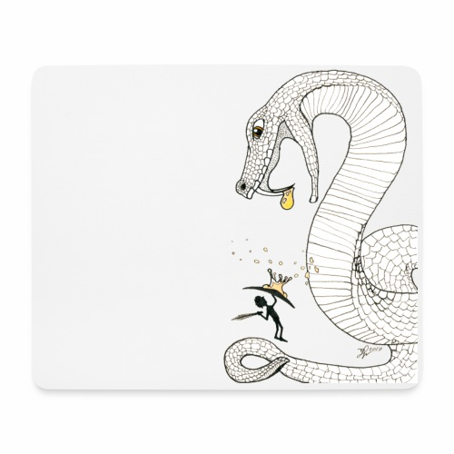 Poison - Fight against a giant poisonous snake - Mouse Pad (horizontal)