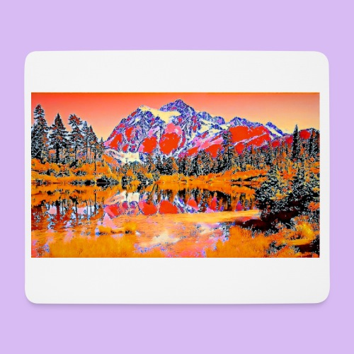 Montagne rosse punteggiate - Tappetino per mouse (orizzontale)