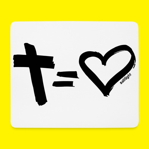 Cross = Heart BLACK - Mouse Pad (horizontal)