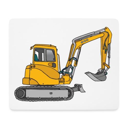 BAGGER, gelbe Baumaschine mit Schaufel und Ketten - Mousepad (Querformat)