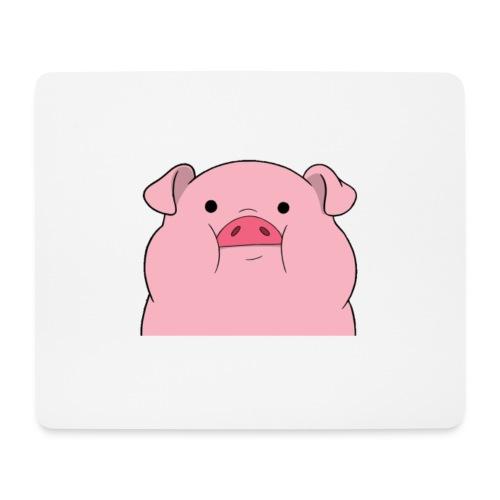 pig clothes - Mousepad (bredformat)