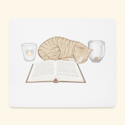 Cats'n'Books - Mousepad (Querformat)