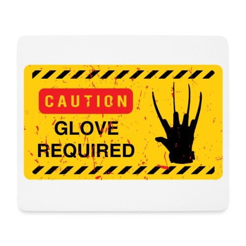 Oldtee Glove Required - Tapis de souris (format paysage)