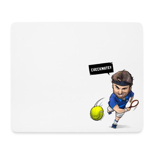 Alasdair checkmate logo - Mouse Pad (horizontal)