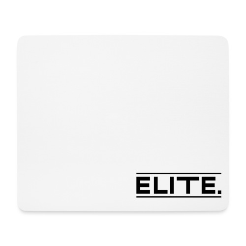 elite large black - Mouse Pad (horizontal)