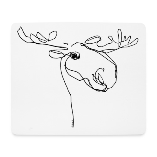Moose - Mousepad (Querformat)