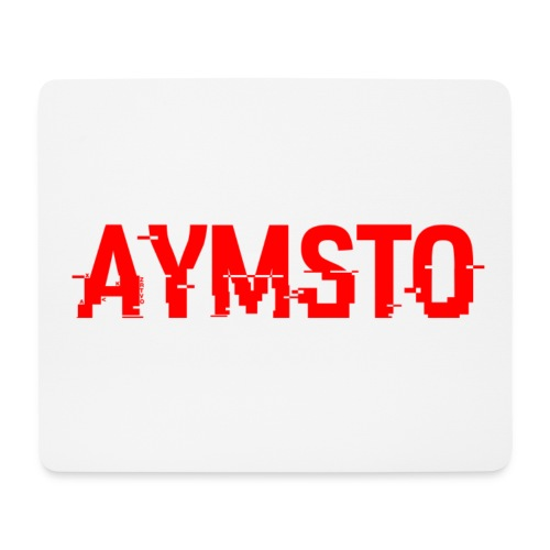 Aymsto/Rouge/Log - Tapis de souris (format paysage)