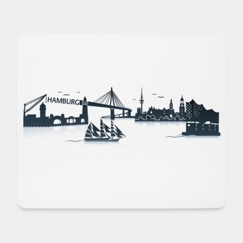Hamburg Skyline - Mousepad (Querformat)