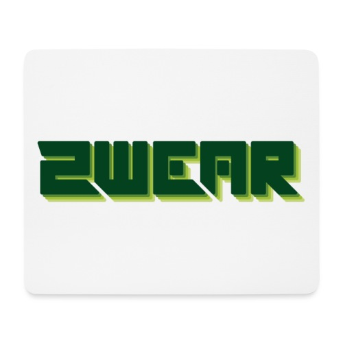 2wear box logo - Mousepad (bredformat)