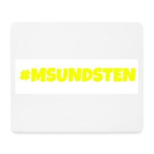#Msundsten hvit - Musematte (liggende format)