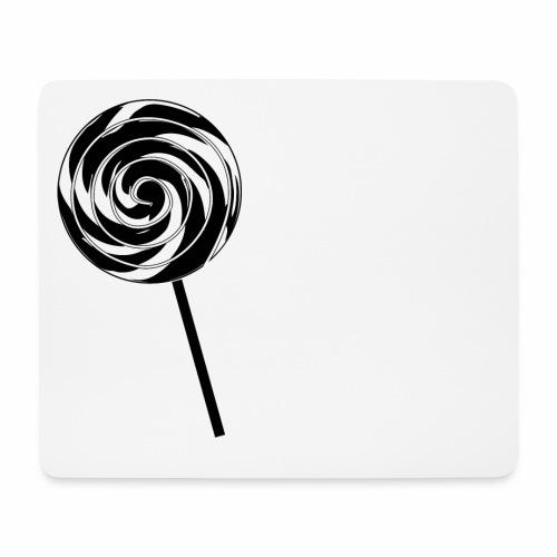Retro Lutscher - Lollipop Design - Schwarz Weiß - Mousepad (Querformat)