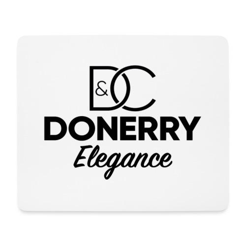 Donerry Elegance Black Logo on White - Mouse Pad (horizontal)