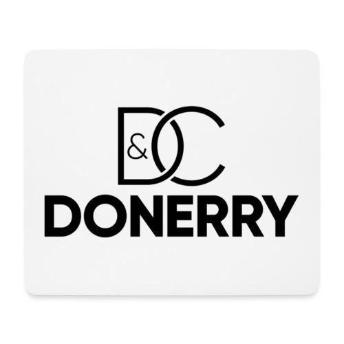 DONERRY Black Logo on White - Mouse Pad (horizontal)