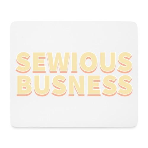 Sewious Busness Rød og Gul Logo - Mousepad (bredformat)