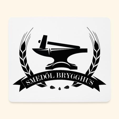 Smedöl Brygghus Logga Svart - Musmatta (liggande format)