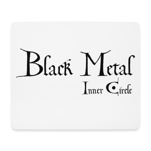 black metal Inner Circle, black ink - Mouse Pad (horizontal)