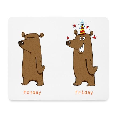 Odio il lunedì Love Friday Lavora per sopportare la settimana - Tappetino per mouse (orizzontale)