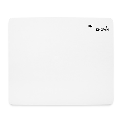 TSCHNIK | Known/Unknown - Mouse Pad (horizontal)