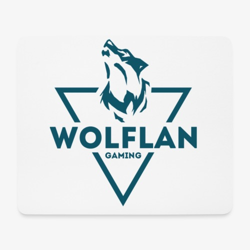 WolfLAN Logo Gray/Blue - Mouse Pad (horizontal)
